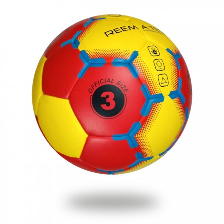 Supreme Grip HYB | cover of hand ball red and yellow and printed with blue