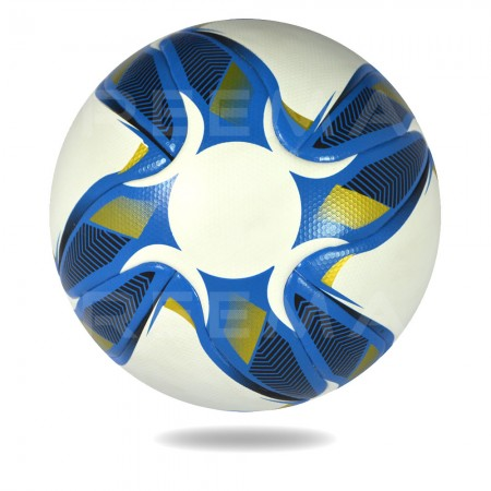 Swift 2020 | Soccer ball white and royalblue cross printed on it