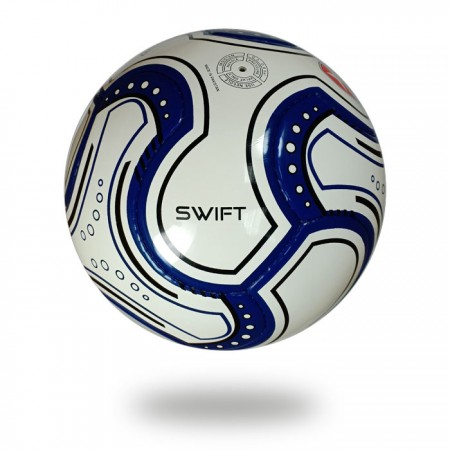 Swift | 8 panels navy blue and white  handsewn soccer ball