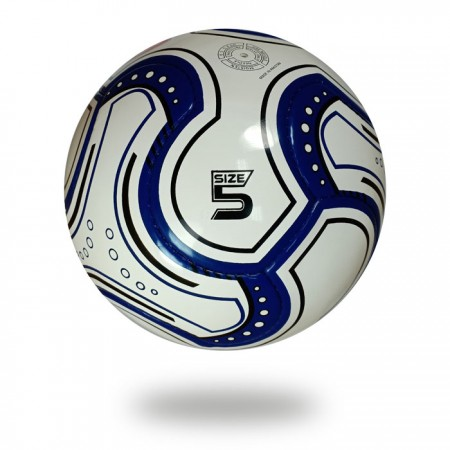 Swift   navy blue and white  hand sewn soccer ball