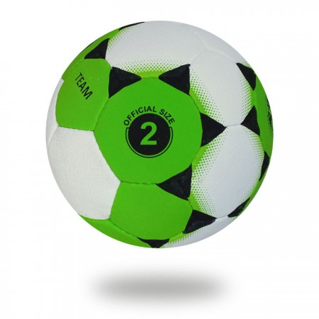 Team | Black Small Triangle printed on white and green Hand ball