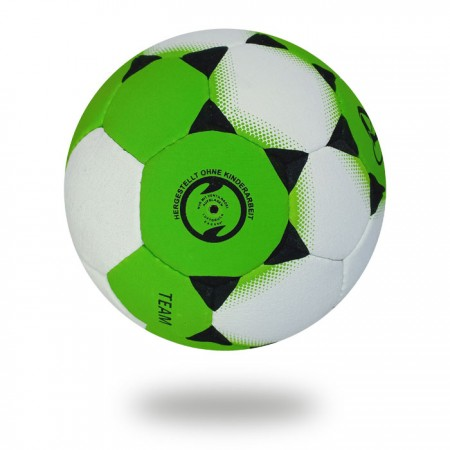 Team | White and Green Hand ball with white background