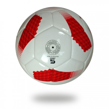 Torino | Red Cube made on white PU Material soccer ball
