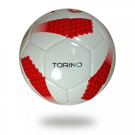 Torino | official size 5 training white red soccer ball