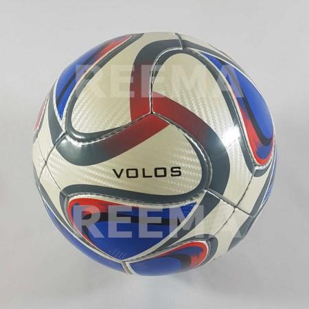 Volos |  Medium blue custom print hand sewn PU material soccer ball