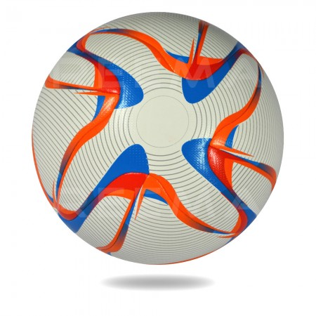 Voyag Air 2020 | White Upper cover of soccer ball printed with red orange and black circle design