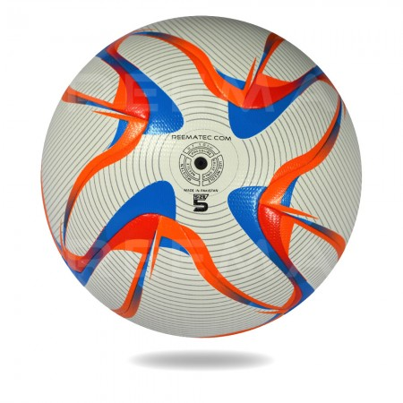 Voyag Air 2020 | White Upper cover of football printed with red orange and black circle design
