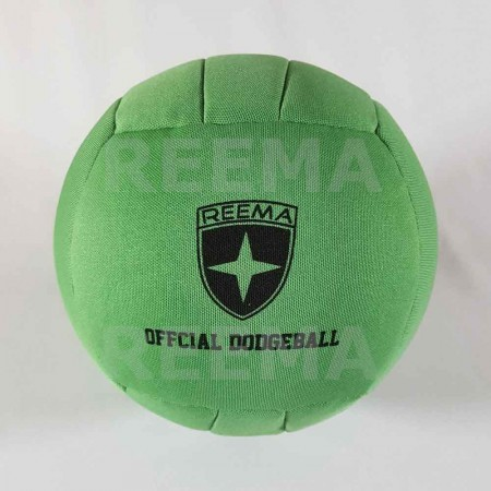 Canadian Dodge ball federation | Machine stitched dodgeball light green with customized design