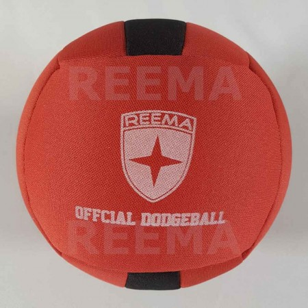 European Dodge ball federation | Machine stitched dodgeball red and black with customized design