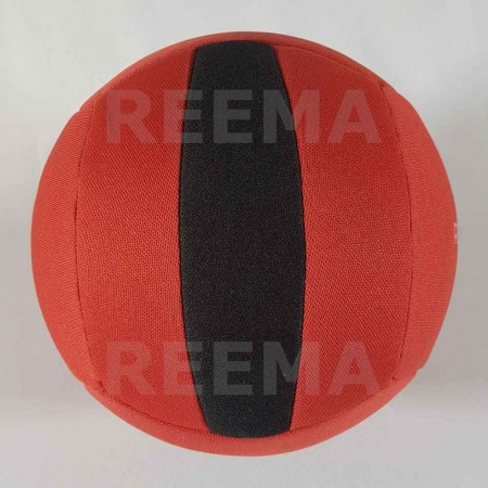 European Dodge ball federation | Machine stitched dodge-ball red and black with customized design