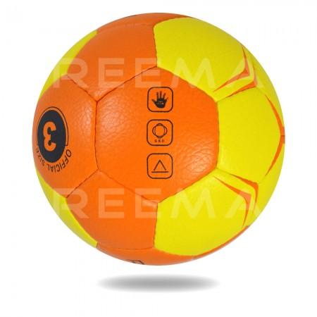 Flash 2020  | White background Yellow and Orange Hand ball size 3