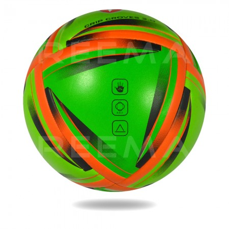 Grip Groves 2020 | red triangle printed on green hand ball