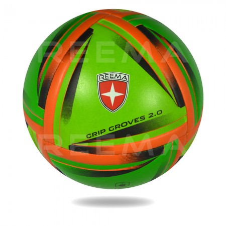 Grip Groves 2020 | red triangle printed on green handball