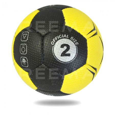 Ultimate 2020| Hand Stitched Soft Yellow and Black Hand ball for women size 3