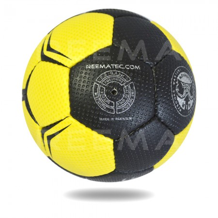 Ultimate 2020| white background Yellow and Black color Hand ball